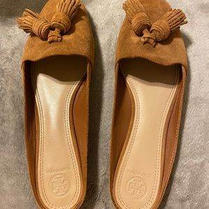 Tory Burch Suede Tasseled Flats